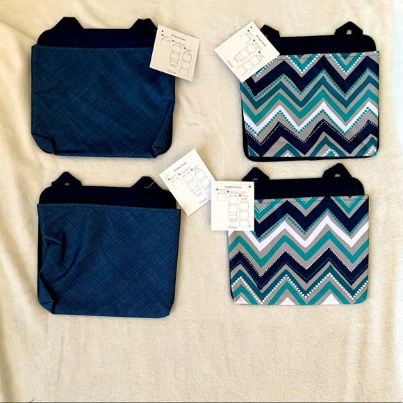 4 Oh-Snap Pockets, thirty-one, Dotty Chevron/Navy